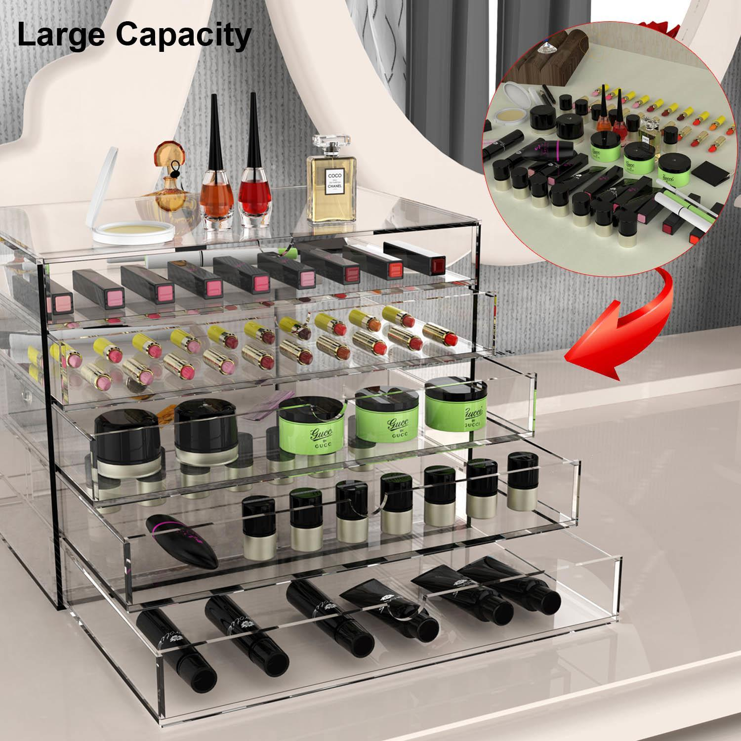Cosmetic Jewelry Organizer 5 Drawer acrylic Display Box Storage 1