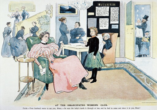 WomenS Rights Cartoon Nan American Cartoon Of 1896 By CJ Taylor On Role Reversal Of The Sexes Poster Print by (18 x 24) 449846c8df1af611be20c93445fb5764