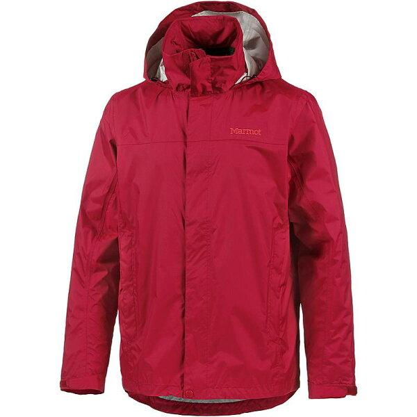 【【蘋果戶外】】marmot41200-6005赭紅色美國男PreCip土撥鼠防水外套類GORE-TEX防風外套風衣雨衣風雨衣