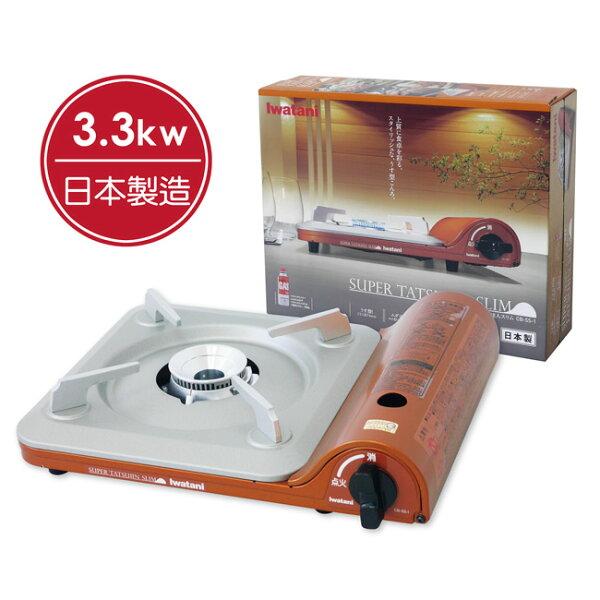 【晨光】日本製岩谷Iwatani超薄高效能瓦斯爐CB-SS-1橘金(904172)【現貨】