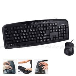KM06 USB多媒體有線鍵盤滑鼠組 防潑水USB鍵盤+光學滑鼠1000DPI【DE470】◎123便利屋◎