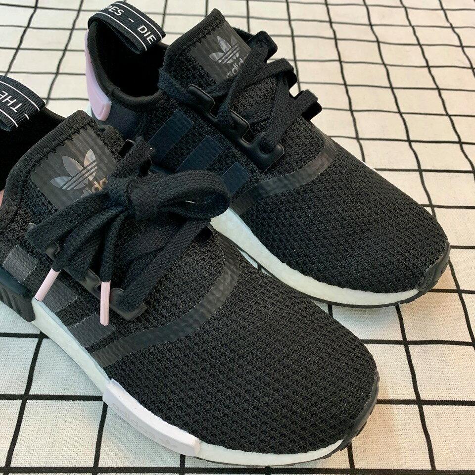 免運🚗-DTK-實體店面🎖現貨 Adidas Original NMD_r1 黑白粉尾 黑粉配色B37649 2