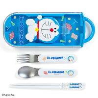 小叮噹週邊商品推薦X射線【C499528】哆啦A夢Doraemon三合一造型餐具組,餐具組/環保餐具/開學必備/環保餐具