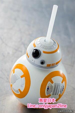 【真愛日本】16091200019樂園限定造型吸管水壺-BB8  迪士尼 星際大戰 Star Wars 日本帶回 預購