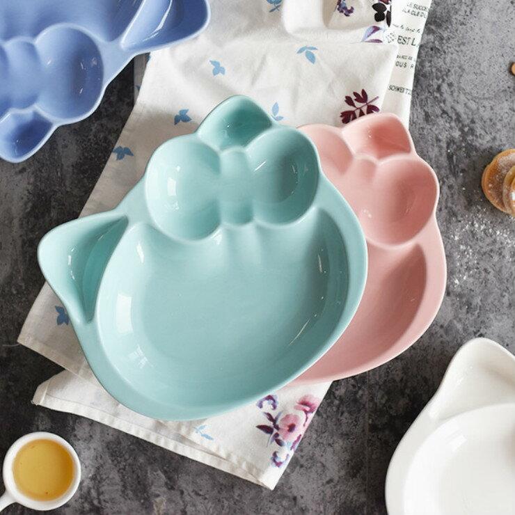 |現貨|甜蜜糖果色造型陶瓷分隔餐盤 4色 陶瓷餐盤 兒童餐盤 1