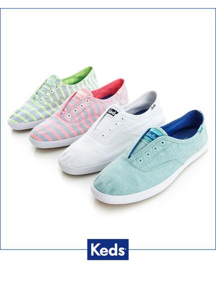Keds 水洗樂活帆布鞋(白) 白鞋│套入式│懶人鞋│平底鞋 4
