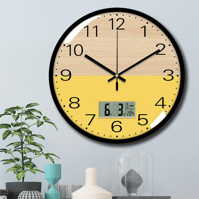 家用掛鐘萬年歷電子鐘客廳日歷鐘錶時鐘掛墻裝飾錶掛墻鐘