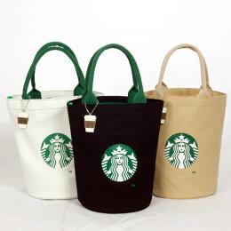 vivi shop 日本星巴克同步 手提雙層帆布 圓筒包 單本雜誌 特惠