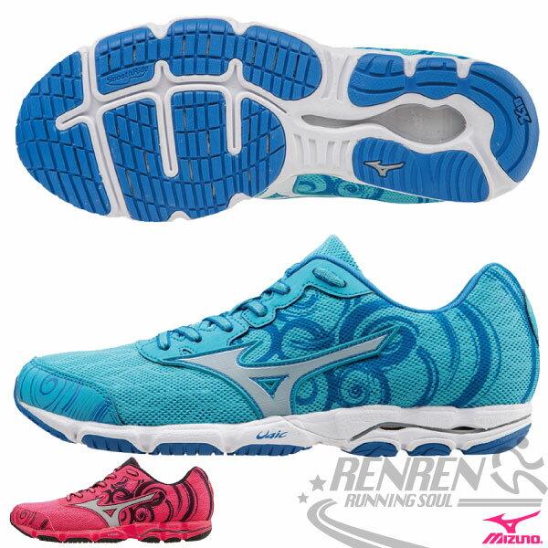 MIZUNO 美津濃 WAVE HITOGAMI 2 女路跑鞋(天藍) 2015新款 慢跑訓練鞋