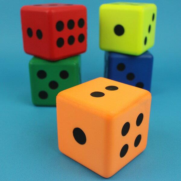 小PU骰子 Pu骰子 8cm 彩色安全骰子 / 一個入 { 促99 } ~偉 Pu色子 減壓骰子 樂樂安全骰子 台灣製造 2