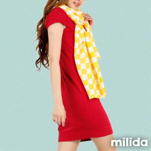 【Milida,全店七折免運】-春夏商品-V領款-修身氣質洋裝 5
