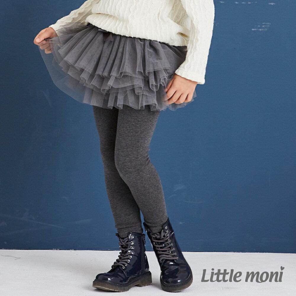 Little moni 假兩件網紗蓬裙褲-灰色(好窩生活節) 1