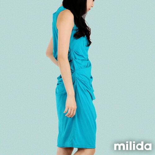 【Milida,全店七折免運】-夏季洋裝-無袖款-氣質長版洋裝 2