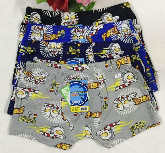 男童平角內褲 竹纖維純棉內褲 可愛卡通透氣兒童內褲 超人四角內褲