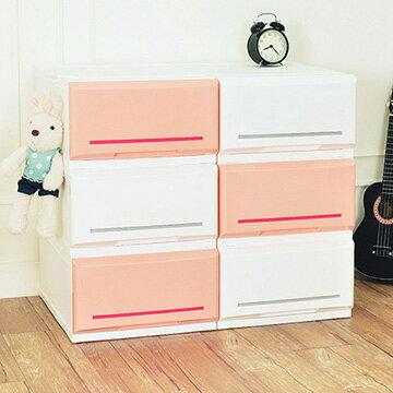 【nicegoods】邦妮組合式單層抽屜收納箱(單層18L)-6入組 (收納櫃 抽屜櫃 衣櫃 塑膠 整理箱)