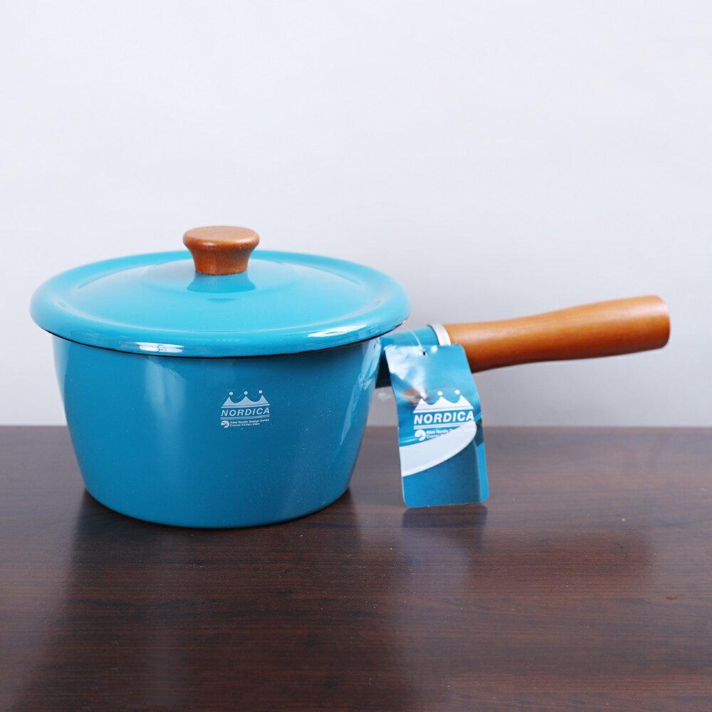 CB Japan  北歐系列琺瑯原木加蓋片手湯鍋