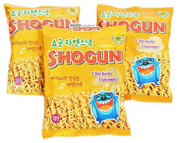 韓國零嘴 SHOGUN妖怪雞汁香脆點心麵 18g 單包