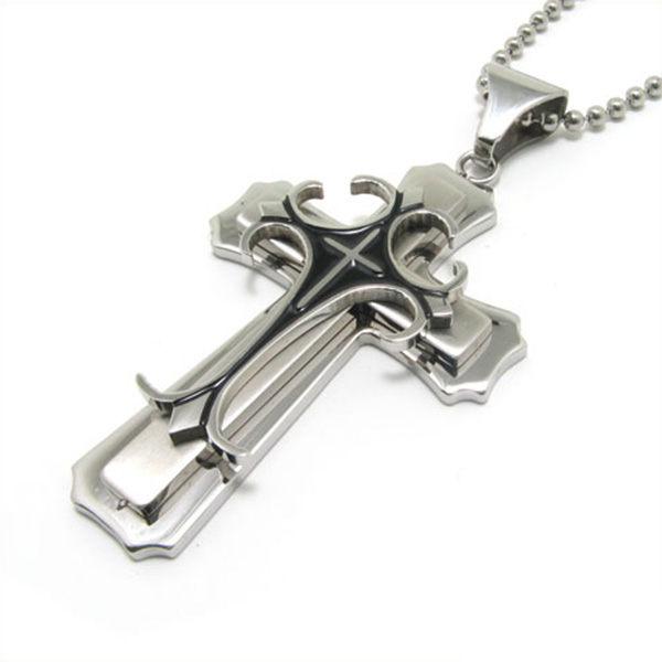 《QBOX》FASHION飾品【C10012074】精緻個性復古十字架鈦鋼墬子項鍊