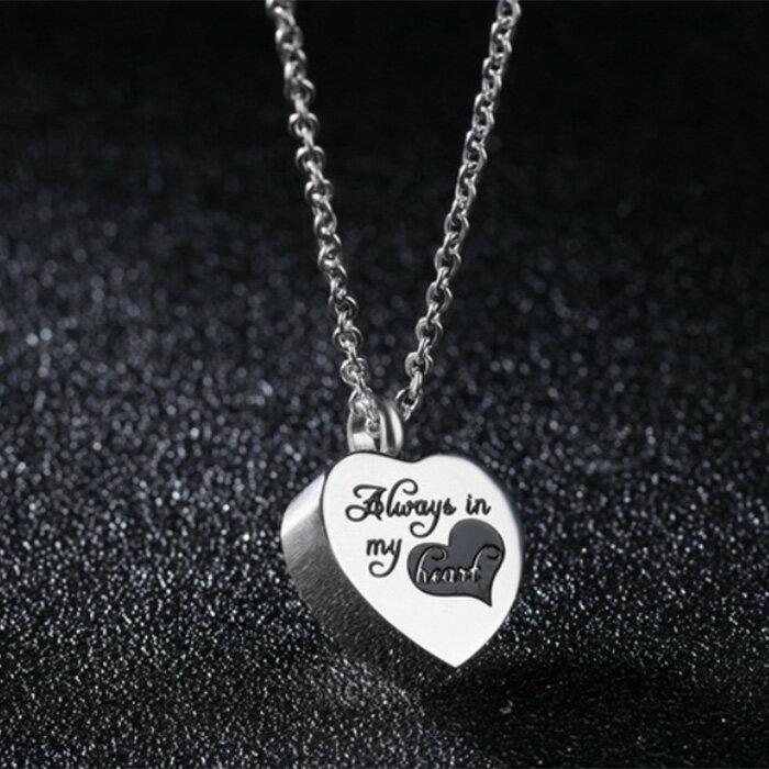 《 QBOX 》FASHION 飾品【C100N1252】精緻秀氣立體愛心香水316L鈦鋼墬子項鍊