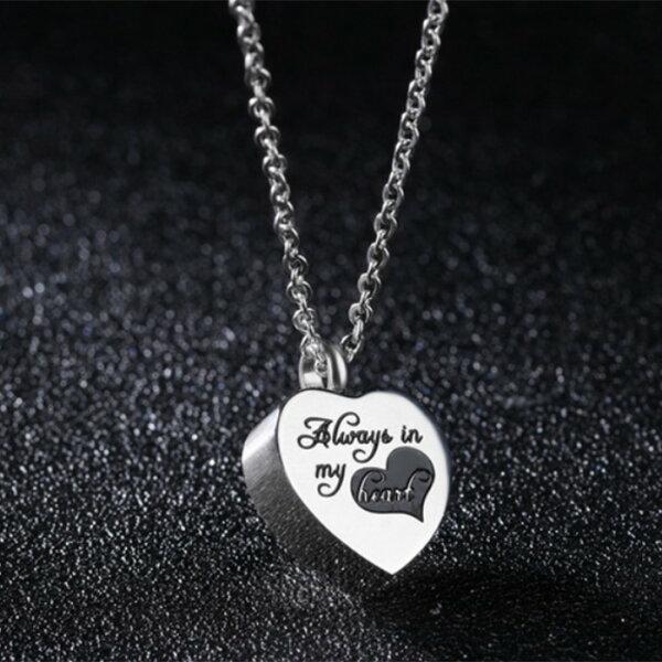 QBOX Fashion 飾品:《QBOX》FASHION飾品【C100N1252】精緻秀氣立體愛心香水316L鈦鋼墬子項鍊