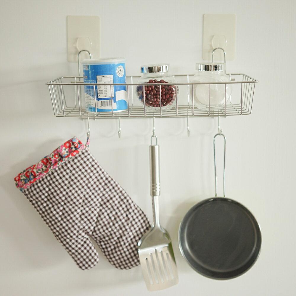 置物架 / 廚房收納 送無痕單勾-不鏽鋼多功能一層架附掛勾 MIT台灣製 完美主義【E0017】 2