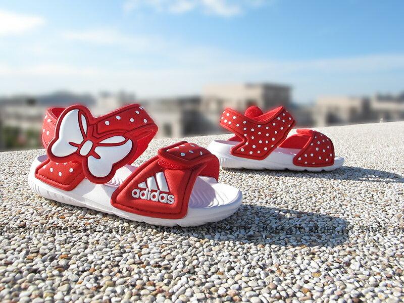 Shoestw~AF3918~ADIDAS 童鞋 涼鞋 小童 AKWAH 9 K 迪士尼