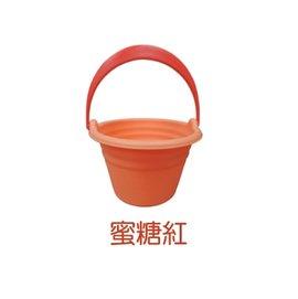 【淘氣寶寶】日本 Toyroyal 樂雅 Flex系列 沙灘戲水玩具 -水桶2154 (蜜桃紅)