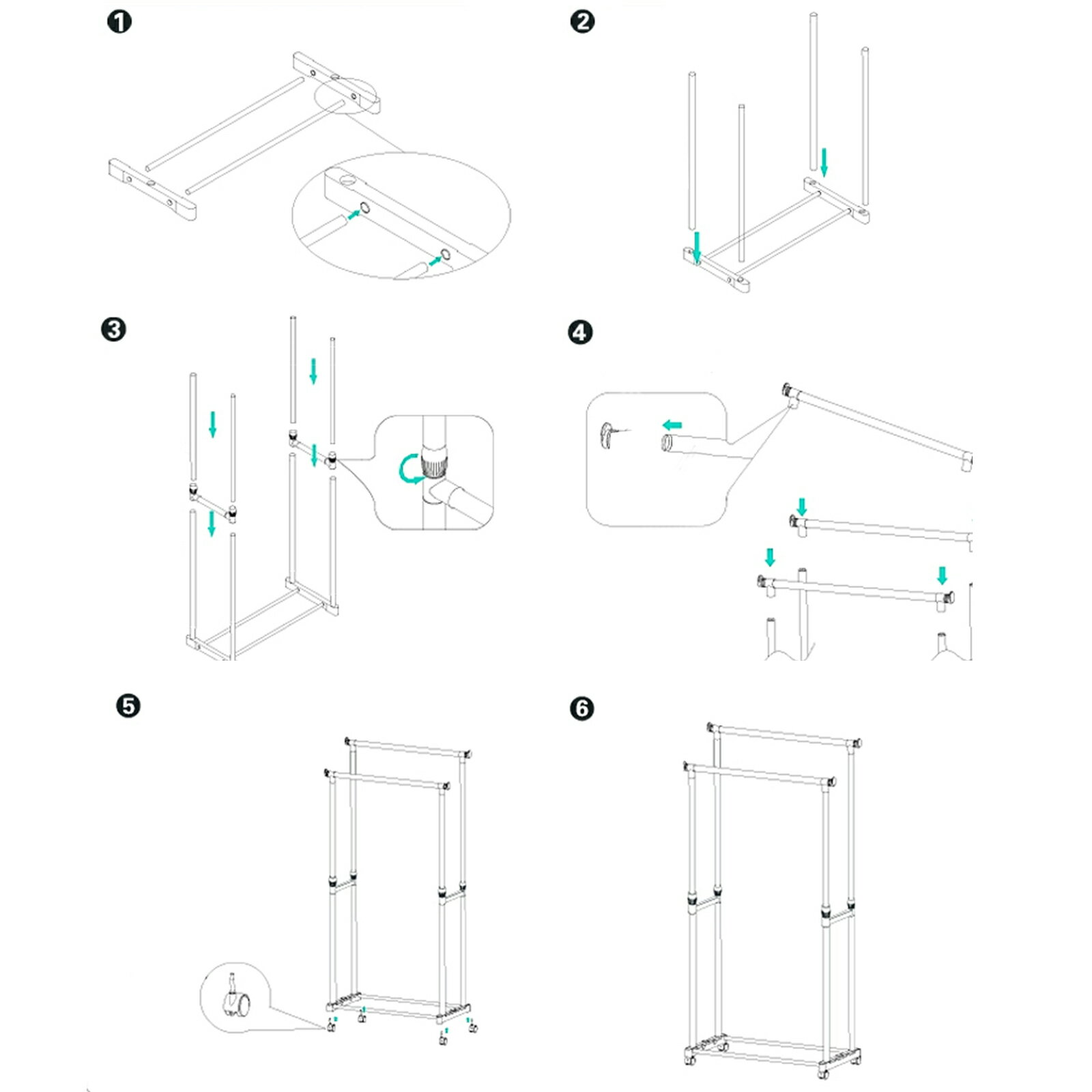 Clothes Garment Drying Hanging Racks 7