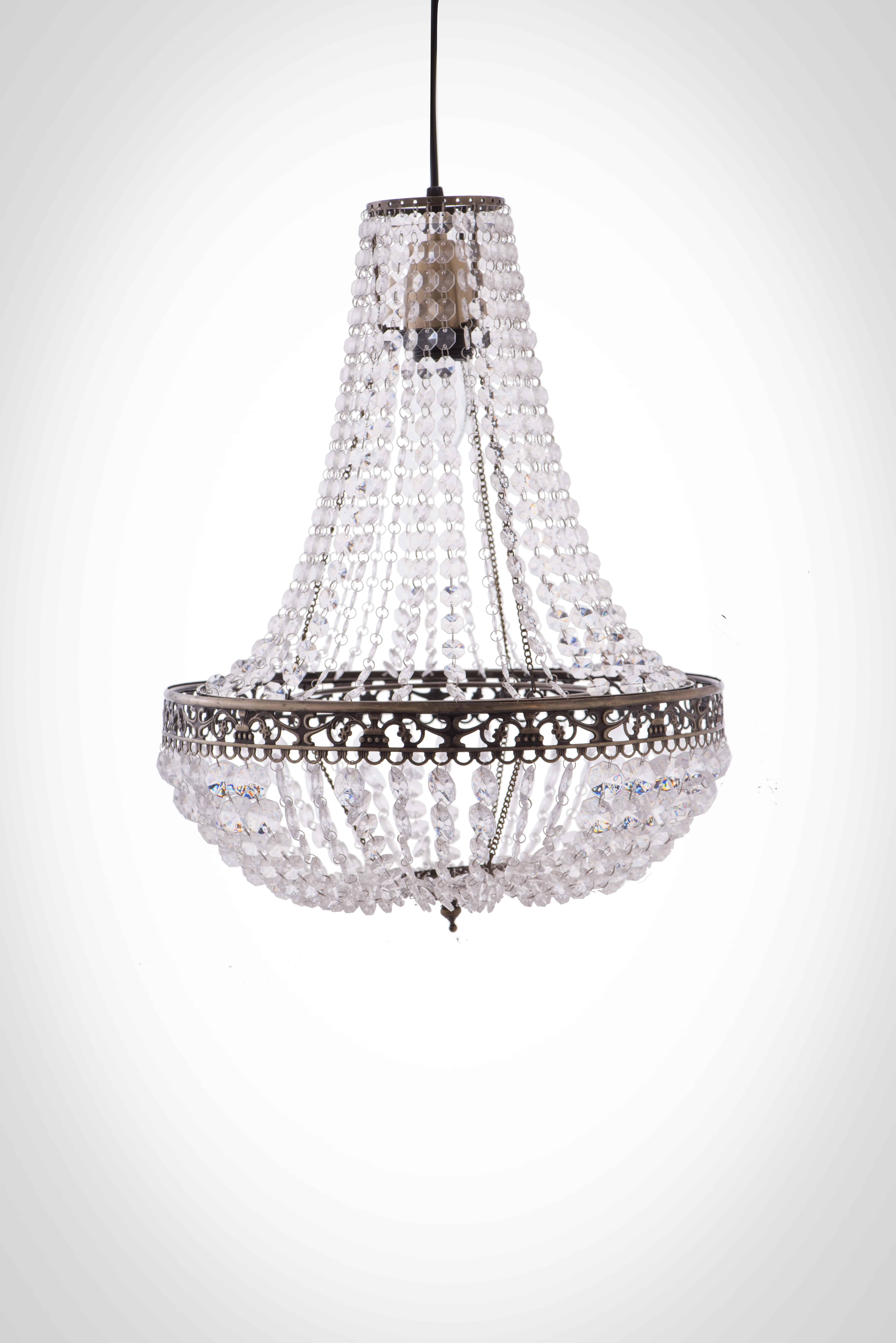 古銅華麗透明壓克力珠吊燈-BNL00050 5