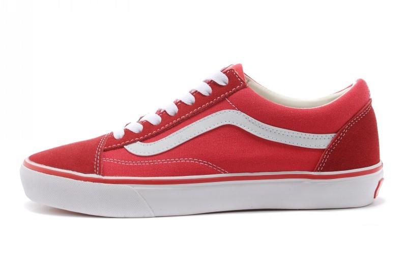 Vans Old Skool 經典紅白條 男女鞋