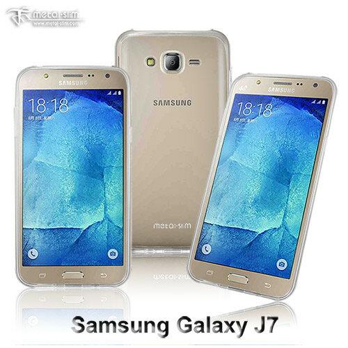 【UNIPRO】Metal-Slim Samsung Galaxy J7 超薄TPU透明軟殼 手機殼 保護套
