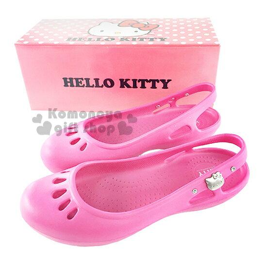 〔小禮堂〕HelloKitty水鑽娃娃鞋《桃.成人尺寸》輕量無負擔