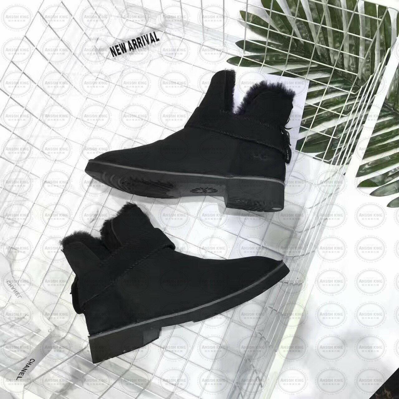 OUTLET正品代購 澳洲 UGG 羊皮毛一體馬汀靴 中長靴 保暖 真皮羊皮毛 雪靴 短靴 黑色 2