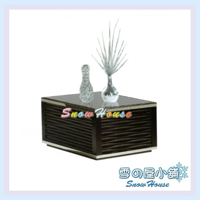 ╭☆雪之屋居家生活館☆╯AA425-07 K460黑色小茶几(啞光烤漆板/10mm強化玻璃)/收納櫃/置物櫃/70公分寬