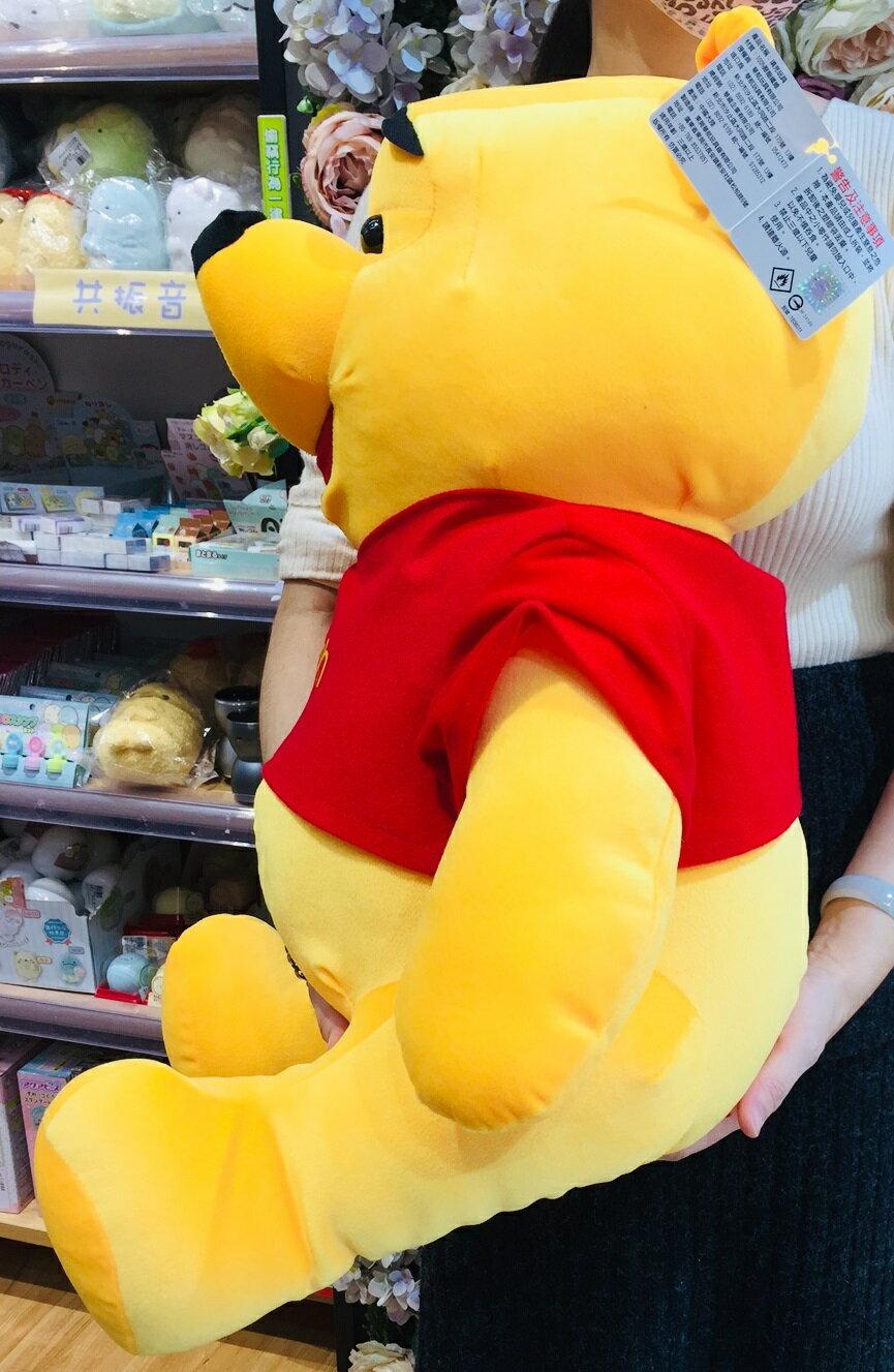 大賀屋 正版 小熊維尼 娃娃 玩偶 裝飾 20吋維尼 維尼熊  pooh 迪士尼 T00120709