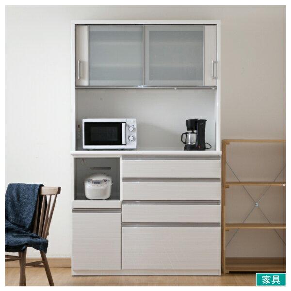 ◎耐蒸氣多機能廚櫃 POSTIA 120KB WH NITORI宜得利家居 0