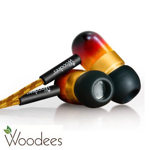 志達電子 IESW100V 美國 Woodees 復古麥克風耳機 木質原音耳機 門市提供試聽