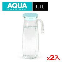 ★2件超值組★樂扣樂扣 沁涼玻璃冷水壺-薄荷綠色(1.1L)【愛買】 0