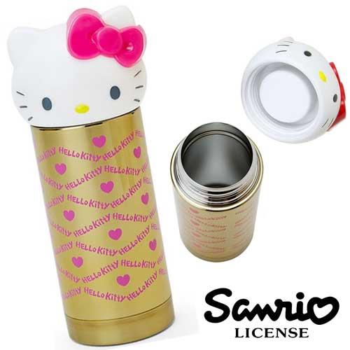 尊爵金 粉紅色~  ~Hello Kitty 凱蒂貓 大頭隨身保溫瓶 360ml 保溫杯