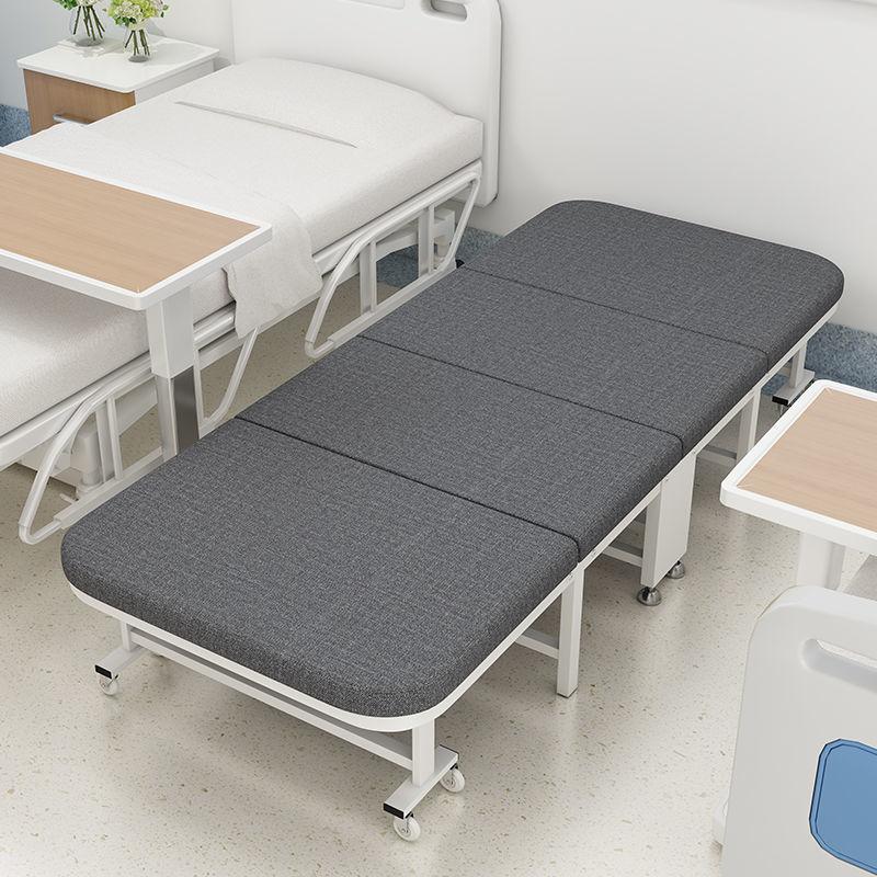 【618購物狂歡節】午休折疊床醫院陪護床辦公室休息家用便攜床單人簡易床木板海綿床pd
