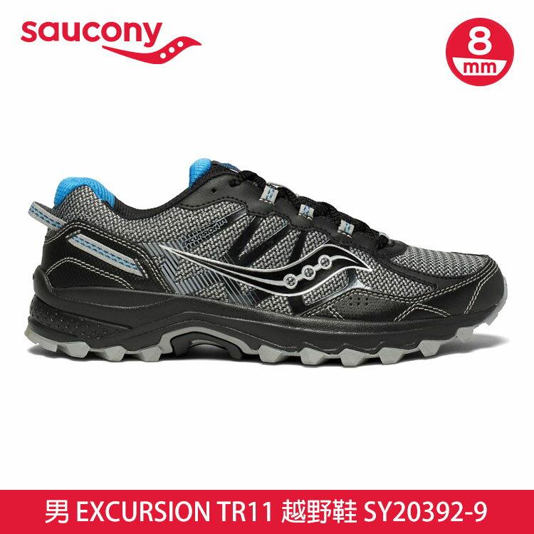 saucony 男 EXCURSION TR11 越野鞋SY20392-9【黑灰】  /  城市綠洲 (跑鞋、運動休閒鞋、EVERUN) 0