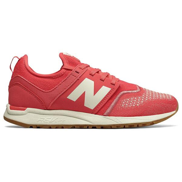NewBalance247女鞋慢跑休閒針織輕量橡膠外底透氣紅白【運動世界】WRL247TF