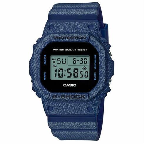 CASIOG-SHOCKDW-5600DE-2牛仔丹寧流行腕錶48.9*42.8mm