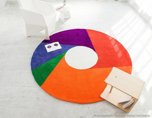 Ally's:【Metrocs】地毯彩色轉輪圖案背面耐熱加工處理日本