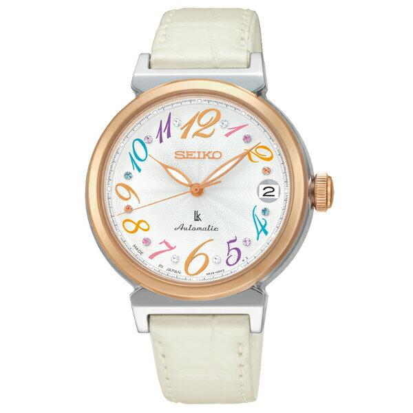 Seiko Lukia 4R35~00J0W^(SRP864J1^)雙色晶彩機械腕錶  白