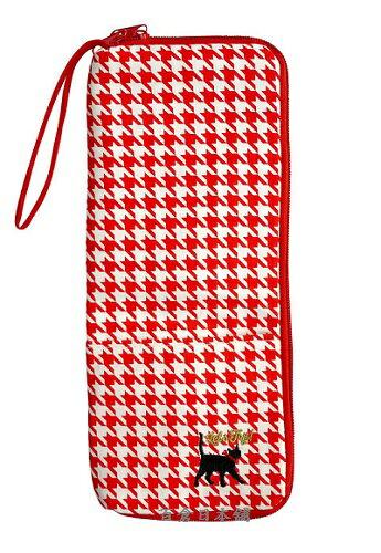 【百倉日本舖】日本進口COCON千鳥格雪尼爾吸水傘套/折疊雨傘套/防水傘袋