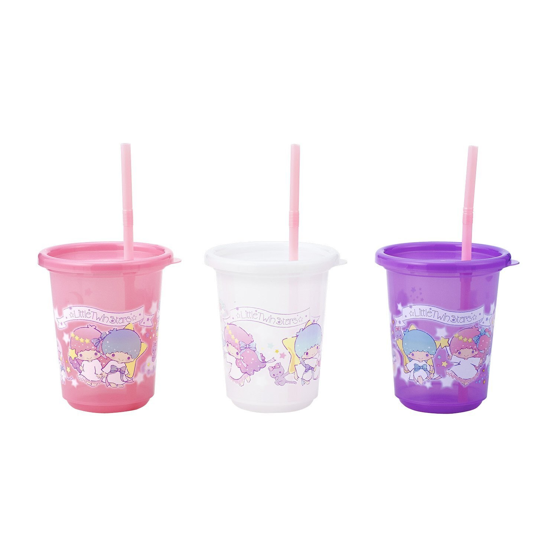 日本直送 Sanrio 三麗鷗 雙子星 Kiki & Lala 兒童學習用品 吸管式 學習杯 防拔杯 270ml ((5入一組))