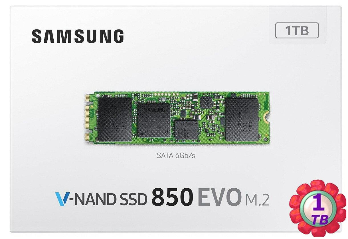 SAMSUNG SSD 850 EVO 1TB【M.2】【MZ-N5E1T0BW】SATA 6Gb/s 內接式 筆電 固態硬碟