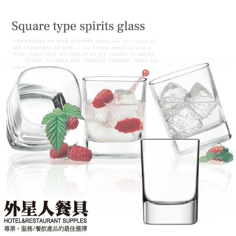 正方型烈酒杯60cc(6入)酒杯 玻璃杯-外星人餐具