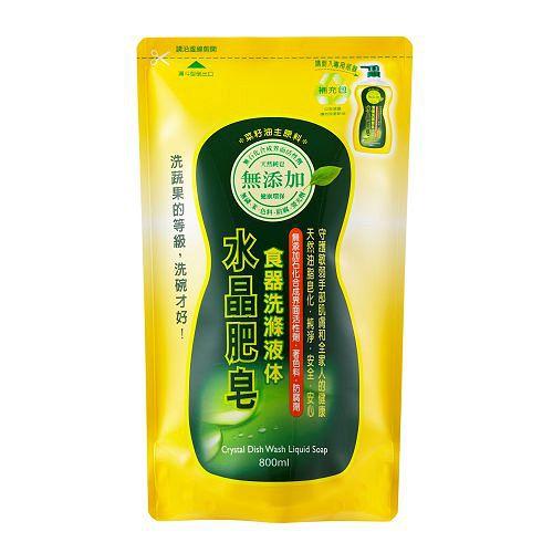 南僑水晶肥皂食器洗滌液体補充包800ml【愛買】